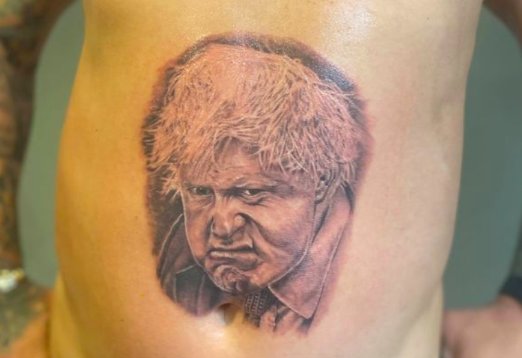 Man gets huge Boris Johnson tattoo on stomach and says he will 'never regret it'