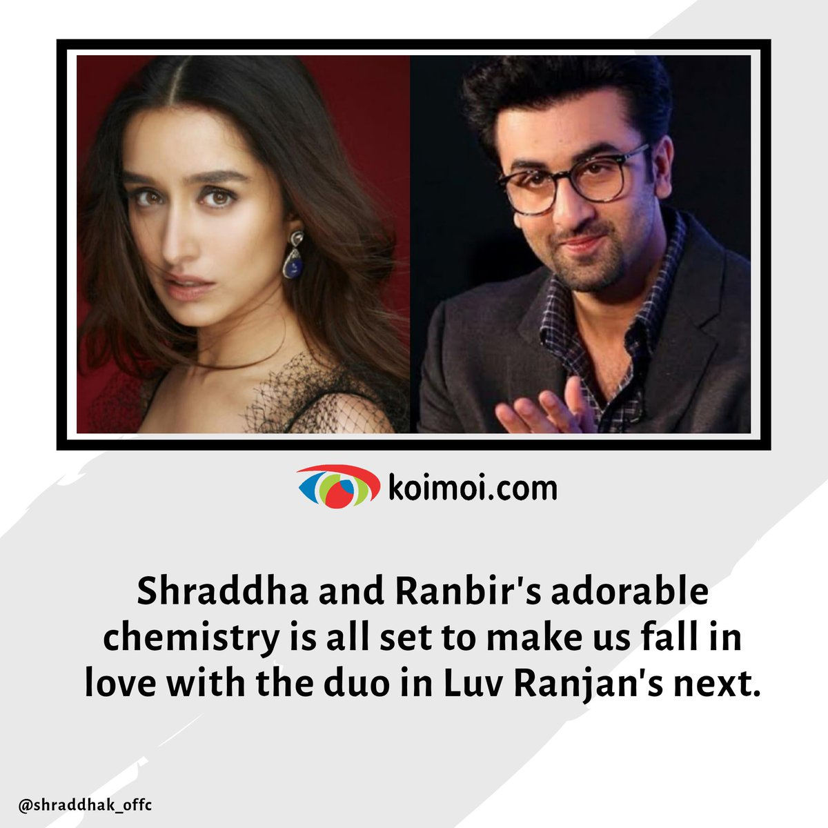 Both of them will create magic onscreen together!💕😍 @shraddhakapoor #RanbirKapoor   #ShraddhaKapoor
