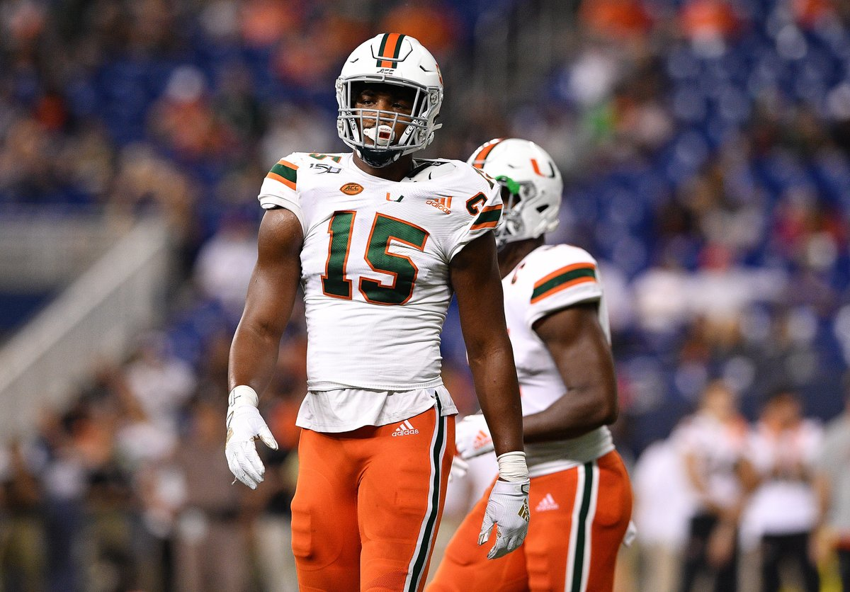 Miami DE Gregory Rousseau is the early-on consensus selection by experts for the #Vikings at #14.