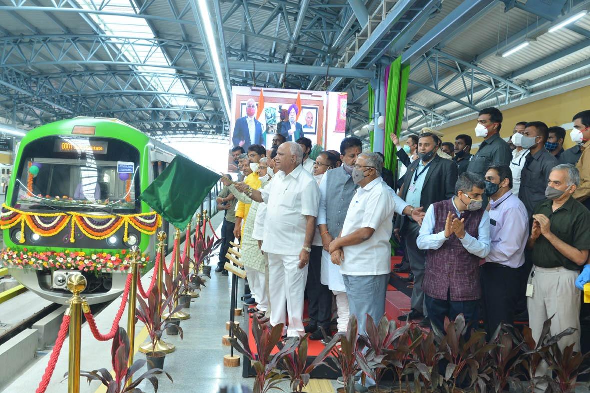 New 6-Km Metro Line Inaugurated In #Bengaluru, Public Access From Tomorrow