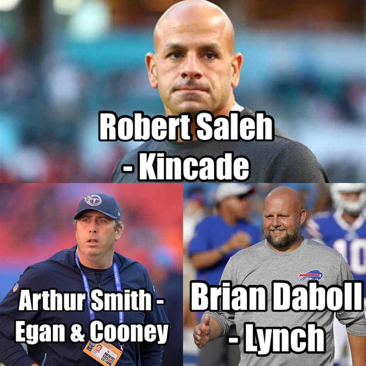 Replying to @975JKShow: Here's our picks for the #Eagles coach. What's yours?