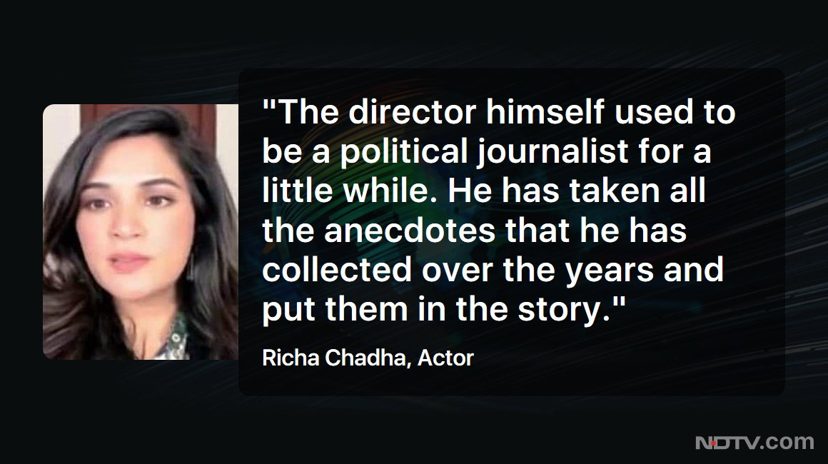 #LeftRightCentre | Actor @RichaChadha speaks to NDTV about her upcoming movie 'Madam Chief Minister'  #NDTVExclusive