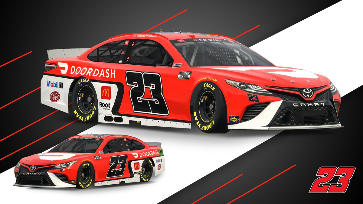 Next stop: @DAYTONA!  Take a look at the paint scheme @BubbaWallace will drive in the #DAYTONA500 for @23XIRacing.
