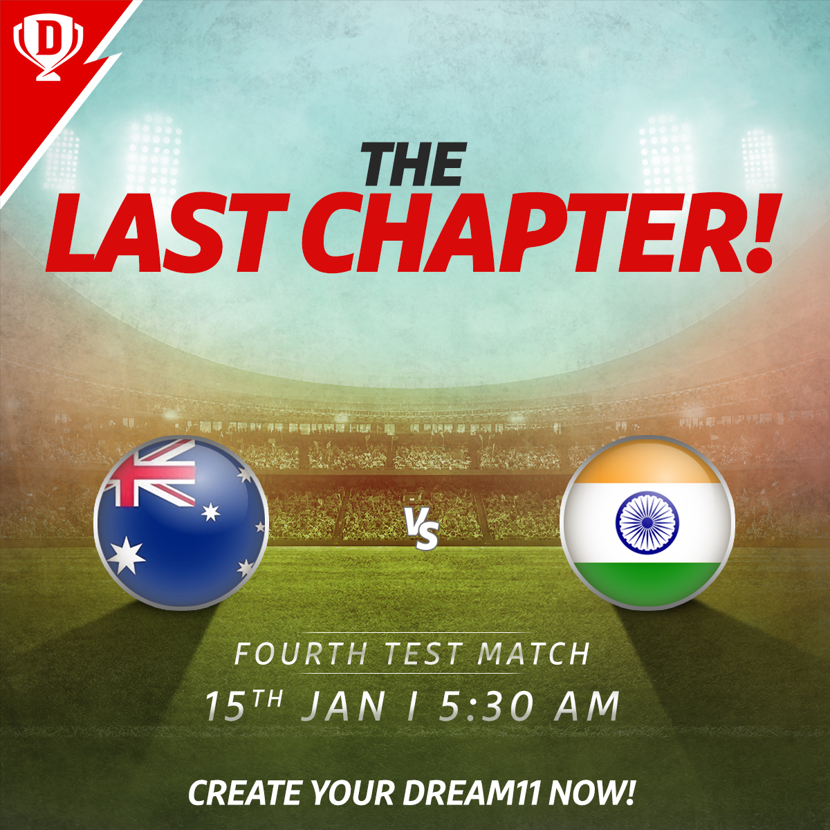Will #TeamIndia return home retaining the Border-Gavaskar Trophy or will Australia overpower the visitors at the Gabba? Fourth Test starts tomorrow at 5:30 AM IST 🤩  Download the app and create your #Dream11 now. Click: . #AUSvIND