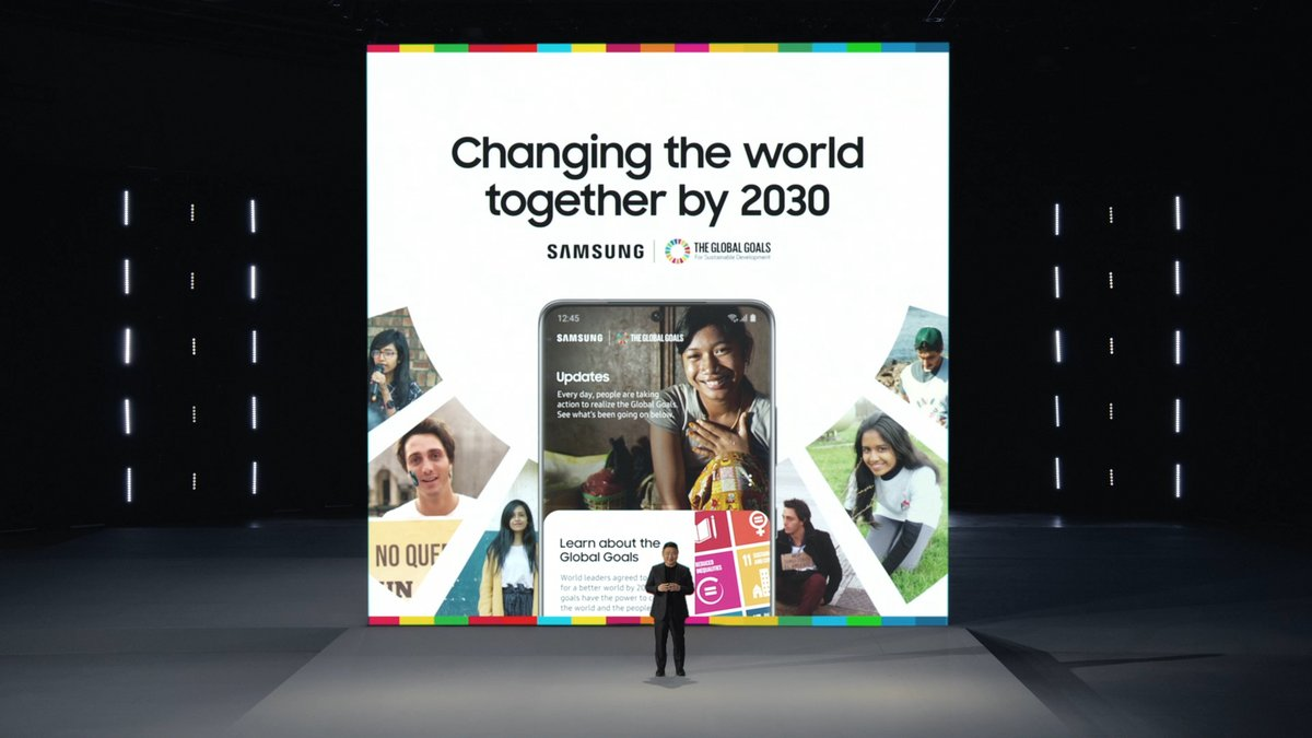 🗣 Special shoutout and thanks to @UNDP, for their dedicated partnership on the #SamsungGlobalGoals App and launch of #Generation17. Here's to continuing this work in 2021 as we elevate more global young leaders in making a positive impact across the world. #SamsungUnpacked