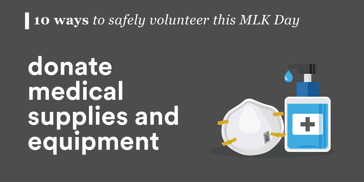 Looking for #CovidSafe volunteer ideas for #MLKDay?   Here's 5 & 6 of 10 we'll be sharing this week. Find ways to safely support #healthcareheroes at  – then comment ⬇️with your #MLKDayOn plans