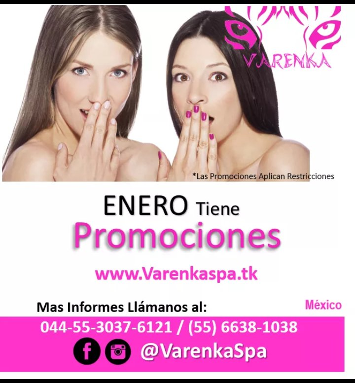 Replying to @LeonelLiebana: RT @LeonelLiebana: RT @LeonelLiebana: RT @VarenkaMc: Aprovecha las Promociones de Enero #enero #enero2021 #FelizAñoNuevo #mexico #VarenkaSpa #vendas #vendasfrias #vendasCalientes #Spa #estetica #belleza #CDMX #masajesrelajantes #Varice…