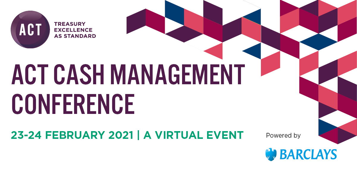 Find out how the global events of 2020 impact cash management practices going forward, and get the latest on #payments, #FX, #LIBOR and more at the #virtual ACT Cash Management Conference, 23-24 February.  Book now    #actupdate #cashmanagement21 @Barclays