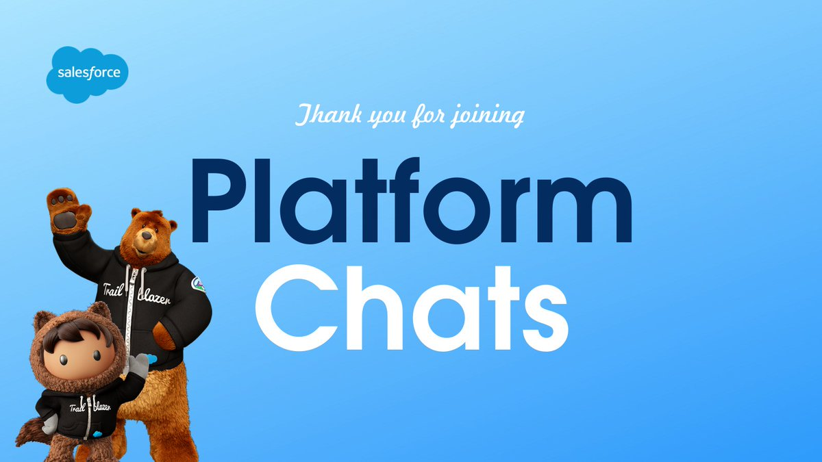 Thank you for joining today's #PlatformChats! 🤩 To learn more about automation, register for next Thursday's #PlatformPowerHour on Flows:  and learn how to increase the speed of your work using Einstein Automate:  👩‍🔬 👨‍🔬