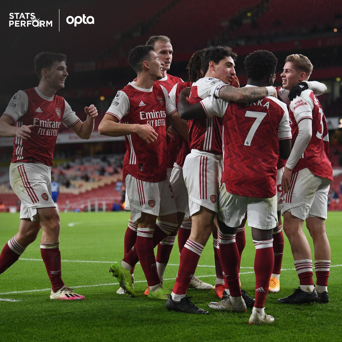 9 - Arsenal have won more points in Premier League London derbies this season than any of the other five sides from the capital (9); the Gunners have won three of their four London derby matches so far, already one more than they did in the whole of 2019-20. Turf. #ARSCRY
