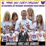 Image for the Tweet beginning: Thank you Coach Carlson for