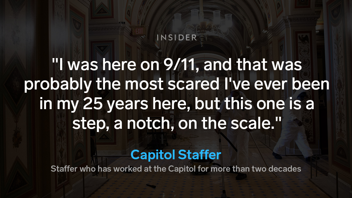 Several Capitol janitorial and labor employees — all of whom were Black or Latino — told Insider they no longer felt safe at their workplace, which is supposed to be one of the most secure in the country.