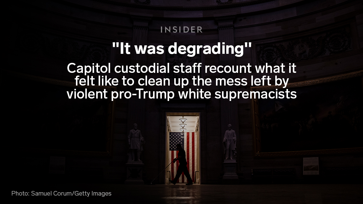 "When a mob of Trump supporters ransacked the Capitol, it was largely Black and brown people tasked with cleaning up the mess.   One worker said they were ""used to"" cleaning up after white supremacists. Another said it was degrading."