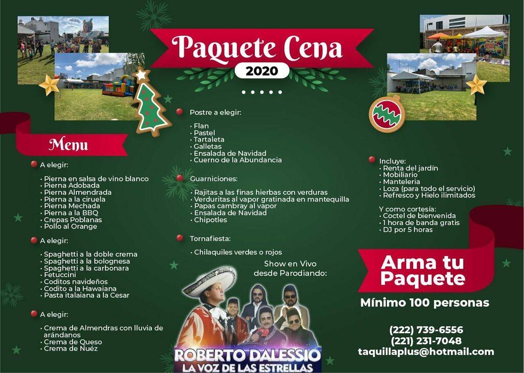 Informes al: 222-739-6556 y 221-231-7048 #navidad2020 #CenaNavideña #pueblacity