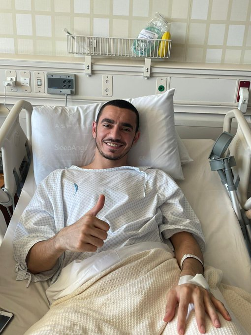 عبدالعزيز عادل لاعب فريق نادي قطر خضع لعملية جراحية في الرباط الصليبي تكللت بالنجاح