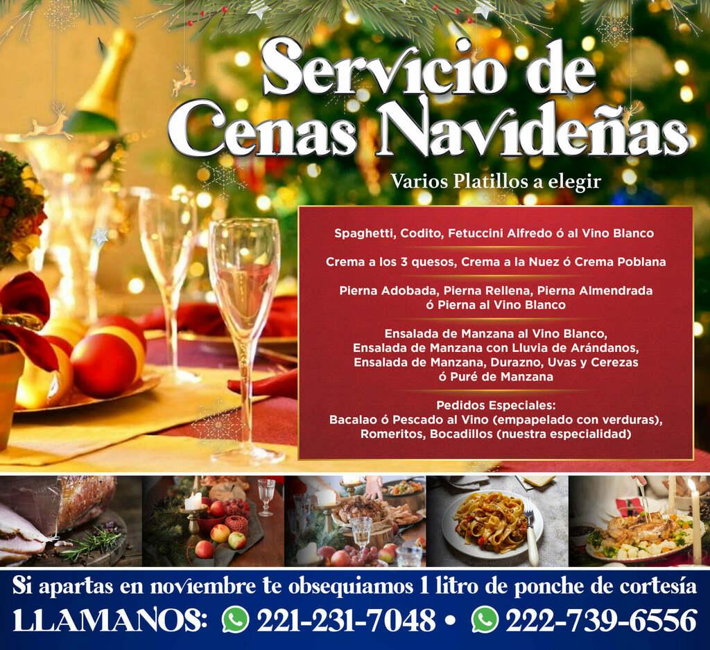 Disfruta tu cena navideña en familia y sin preocupaciones. Nosotros nos encargamos.  Tenemos un delicioso menú muy variado. Llámanos. 222-739-6556 y 221-231-7048   #navidad #navidad2020 #CenaNavideña #Puebla #pueblacity