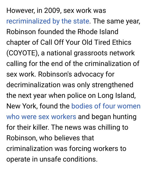 2 pic. Rhode Island's experience with decriminalizing sex work. Spoiler: it worked. Amnesty International