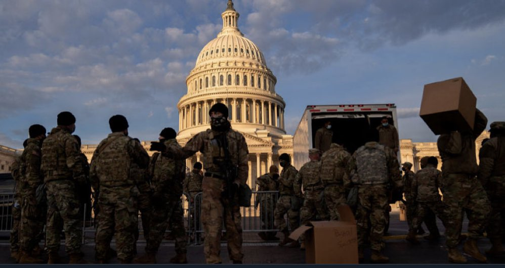 FORT WASHINGTON: National Guard Authorized to 'Use Lethal Force' to Protect Inauguration