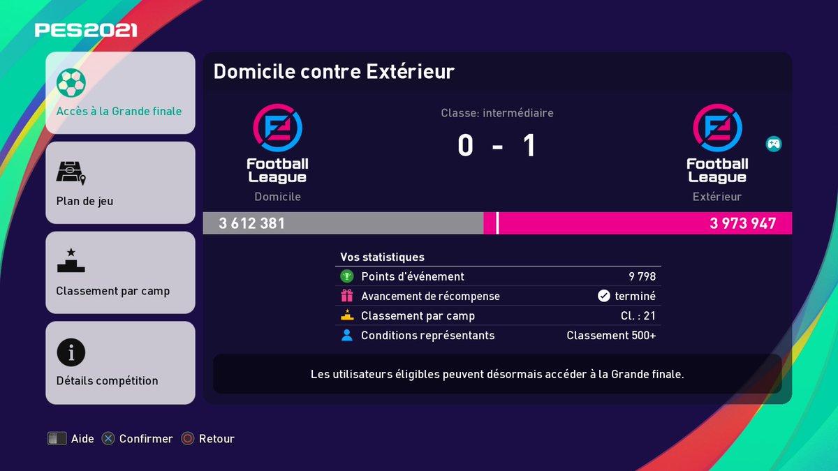 Match day #EFOOTBALLPES2021 #efootballOpen #PS4share