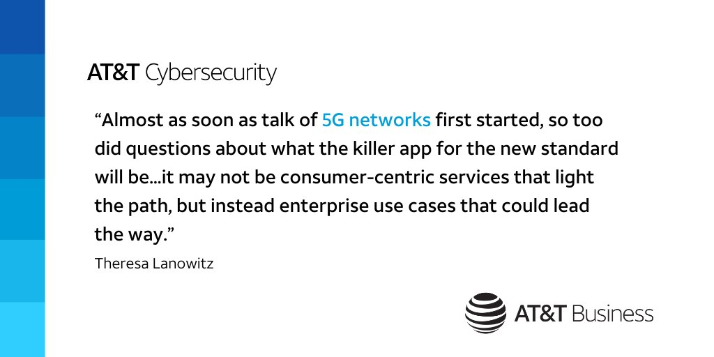 What can we expect from #5G this year? #ATTCybersecurity's @CyberLanowitz shares her thoughts on #security in @Forbes: https://t.co/oQdLMl4v8K https://t.co/WJyg6FOVGX
