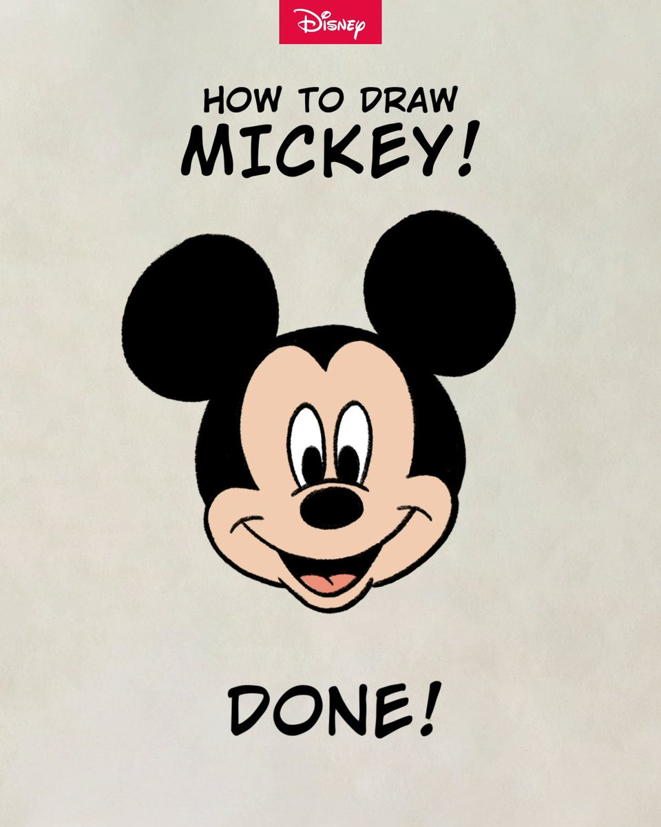 It all started with a pencil stroke... Time to learn how to draw your pal Mickey!