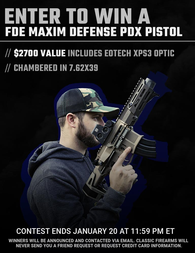 🚨NEW CONTEST ALERT🚨 Okay let's be real, 7.62x39 is a badass cartridge and the Maxim Defense PDX is the perfect little range toy. So put the 2 together and you get our newest contest! That's right, the Maxim PDX can be yours for FREE. Enter to win now -