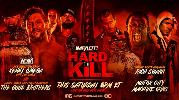 UK fans, it's that time - I've got a FITE code for IMPACT's Hard to Kill for you!  Who doesn't wanna watch Omega & The Good Brothers Vs Swann & MCMG? The whole card looks great.  What have you gotta do? Follow me, RT the post and comment with your fave IMPACT star!  Good luck 😀