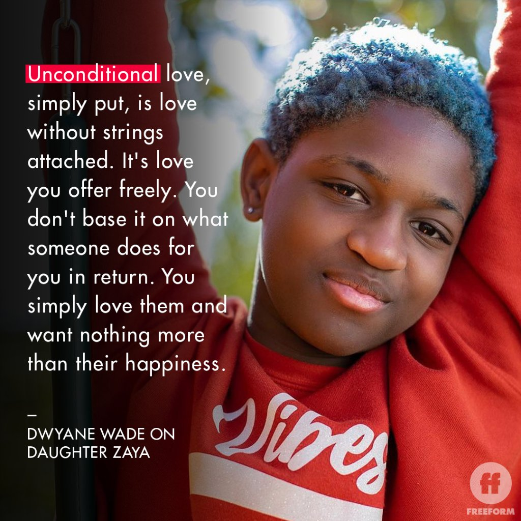 Love unconditionally _______ @DwyaneWade recently posted about his love for his daughter Zaya