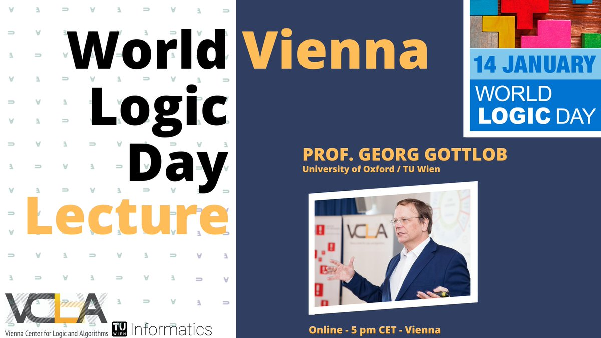 This was the 1st Vienna World Logic Day Lecture with Prof. Gottlob @CompSciOxford @tuvienna on Knowledge Processing, Logic, and the Future of AI thinking about how to make real advances in AI. Recording and presentation slides are now available:  #LogicDay