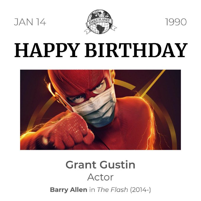 Happy birthday to actor (Barry Allen himself), Grant Gustin!