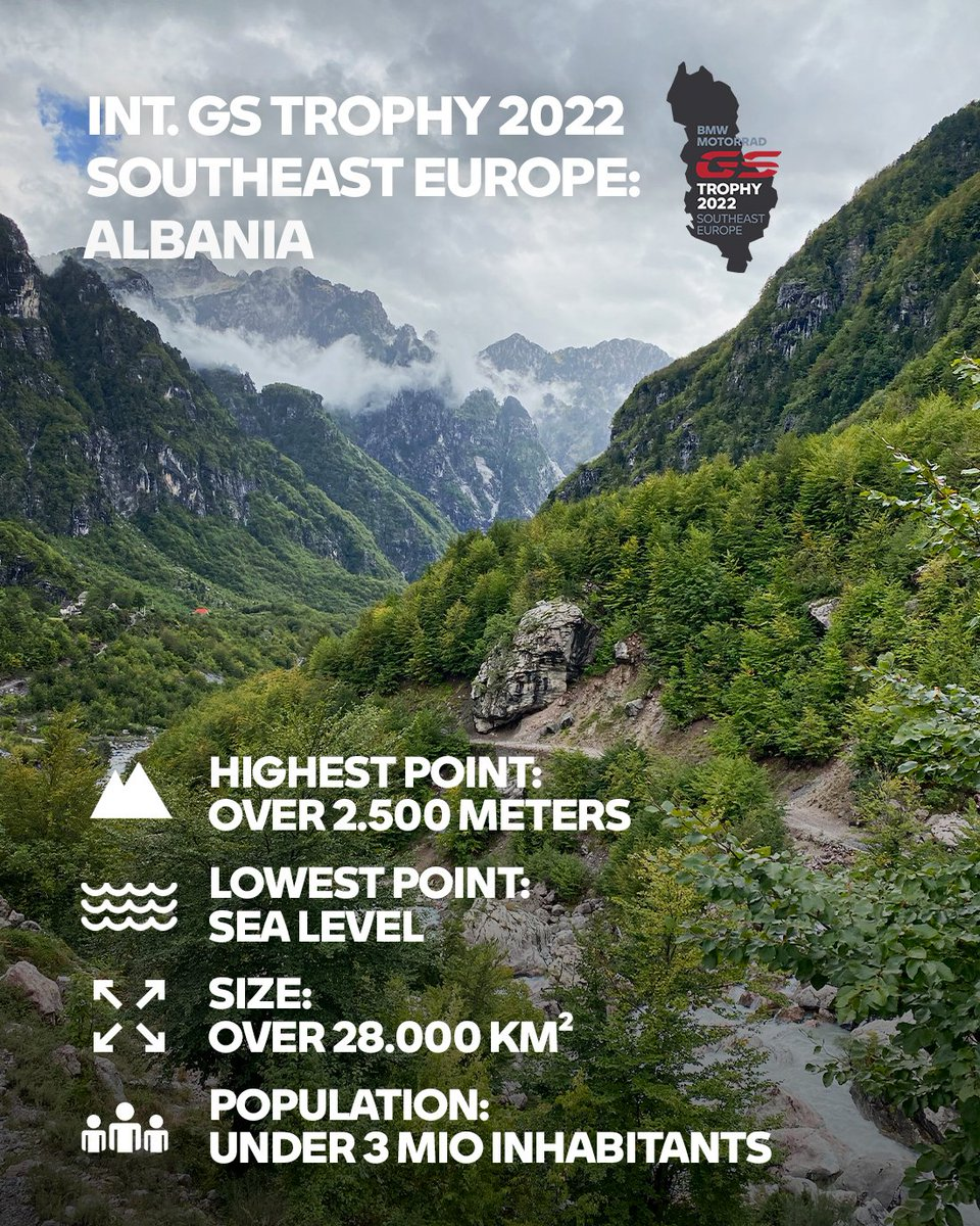The location for #GSTrophy2022 is Albania! Are you ready for your next off-road adventure? Stay tuned for information on how to qualify, and perhaps you'll be part of team SA bringing home a 4th title?   #MakeLifeARide #SpiritOfGS #BMWMotorrad https://t.co/88PXvPi3jf