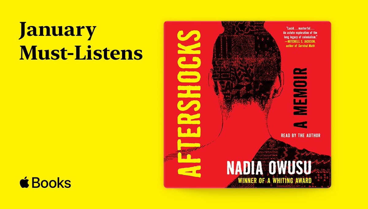I'm so excited @AppleBooks chose my memoir #Aftershocks, read by yours truly from @SimonAudio, as one of the #JanuaryMustListens! Check it out here: