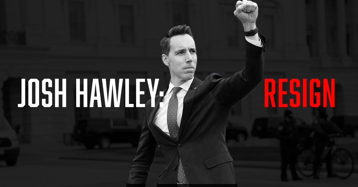 "1. Read this » ""Hawley has blood on his hands in Capitol coup attempt""    2. Then sign this:"