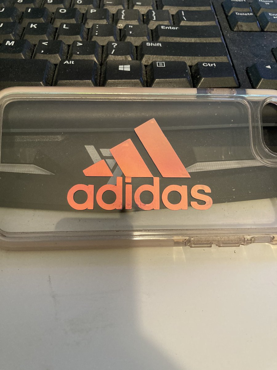 I mad a phone case to match all of my Adidas clothes 😍