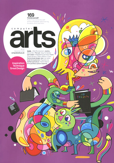Here's a blast from the past! #ThrowbackThursday @jonburgerman's cover illustration for Computer Arts (December) from 11 years ago. 👀 Who's feel old now?