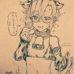 Image for the Tweet beginning: ミルク売りの牛柄ビキニなカルルくん #ブレイブルー #BLAZBLUE #カルル=クローバー #マコト=ナナヤ