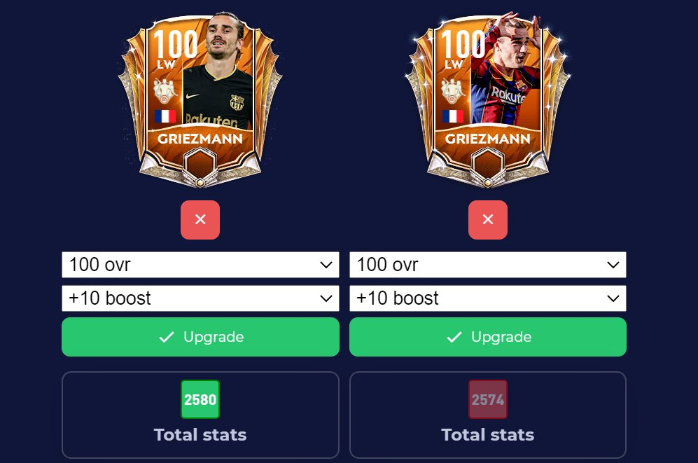 CAN YOU TELL ME WHERE IS THE DIFFERENCES BETWEEN THESE CARDS ? @EAHelp @EASPORTS @EASPORTSFIFA @EASPORTSFIFA_JP @EAFIFAMOBILE @FIFAMOBILE_NXJ @EA #fifamobile #FIFA21 #FIFADataUpdate #TOTW #FIFASOUND #FIFA21XboxOne #fifamobile