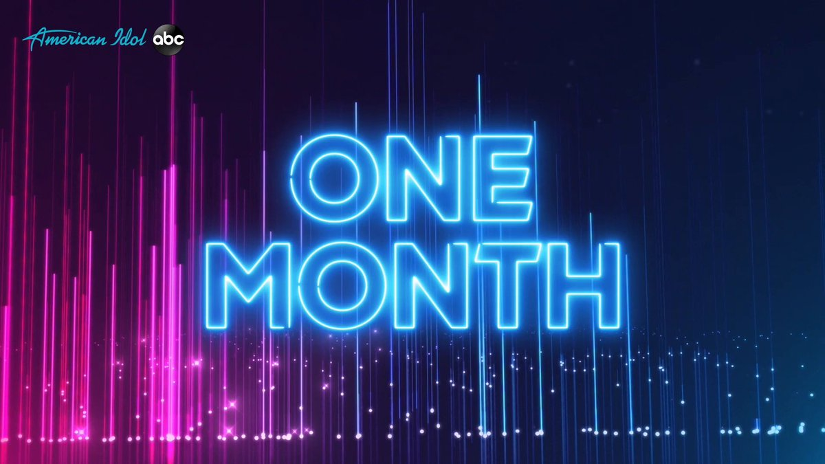 Replying to @RyanSeacrest: Save the date. We are ONE MONTH away for a new season of @AmericanIdol! #TheNextIdol