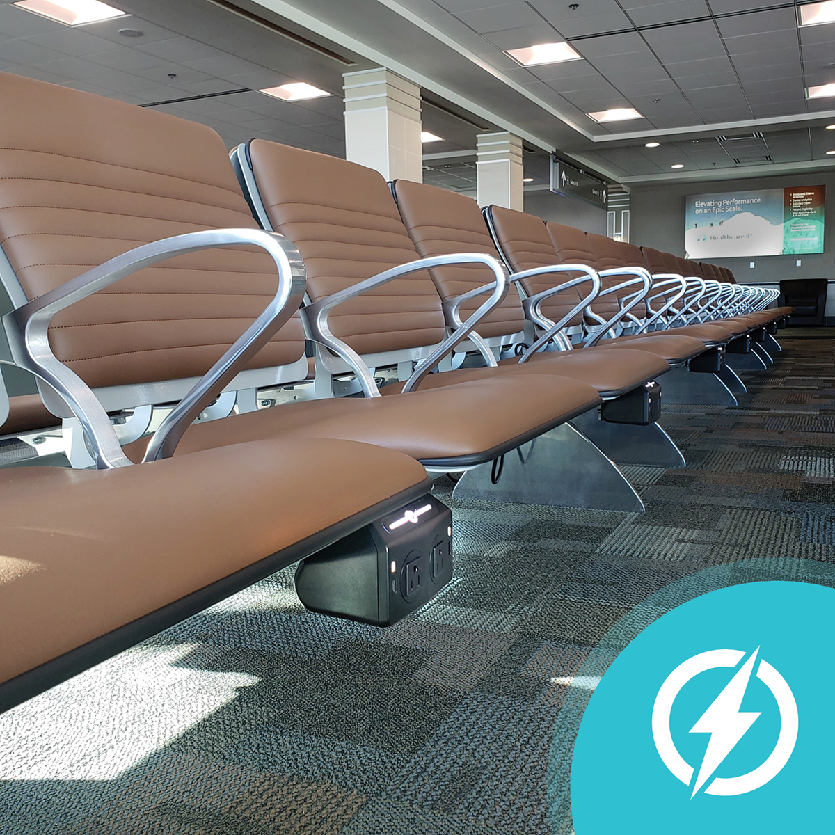 Is there anything more frustrating than your device dying at the airport? At MSN, you won't have to worry! We make it easy to charge all of your devices while you wait for your flight. On top of that, the new Gate 8 & 9 seating area has charging stations at almost every seat!