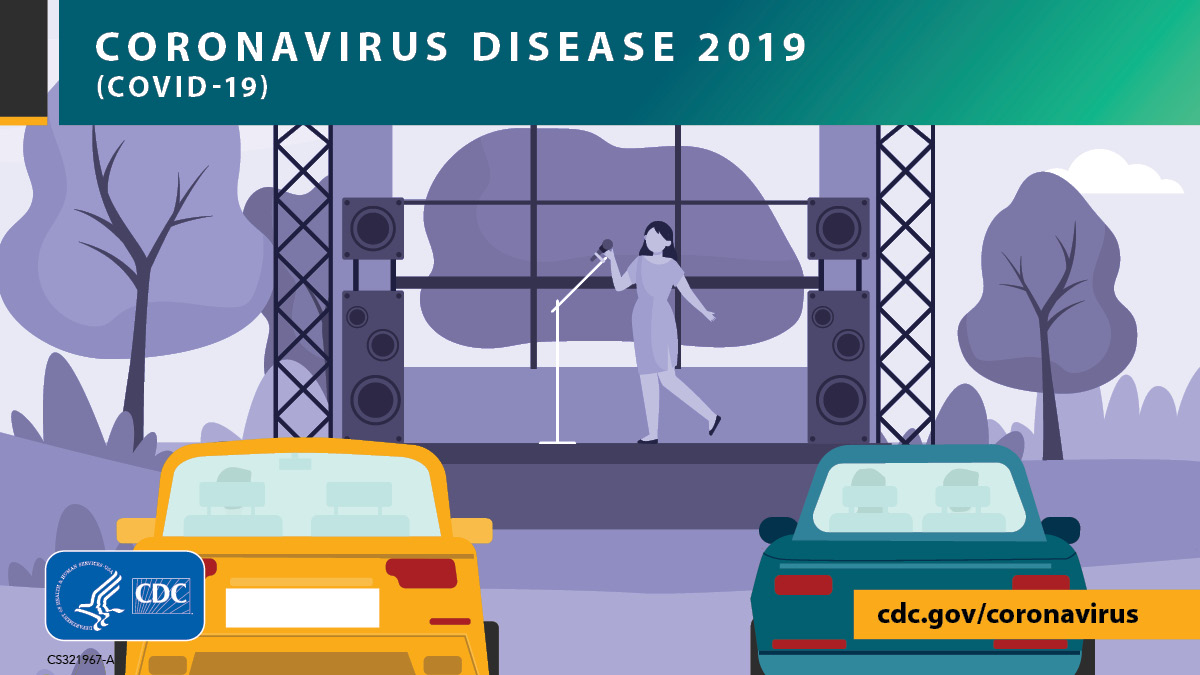 Looking for entertainment? You are less likely to be exposed to #COVID19 during outdoor activities. Consider going to a drive-in, listening to an outdoor concert from your car, or creating your own outdoor movie party. More: bit.ly/3mKHutV.