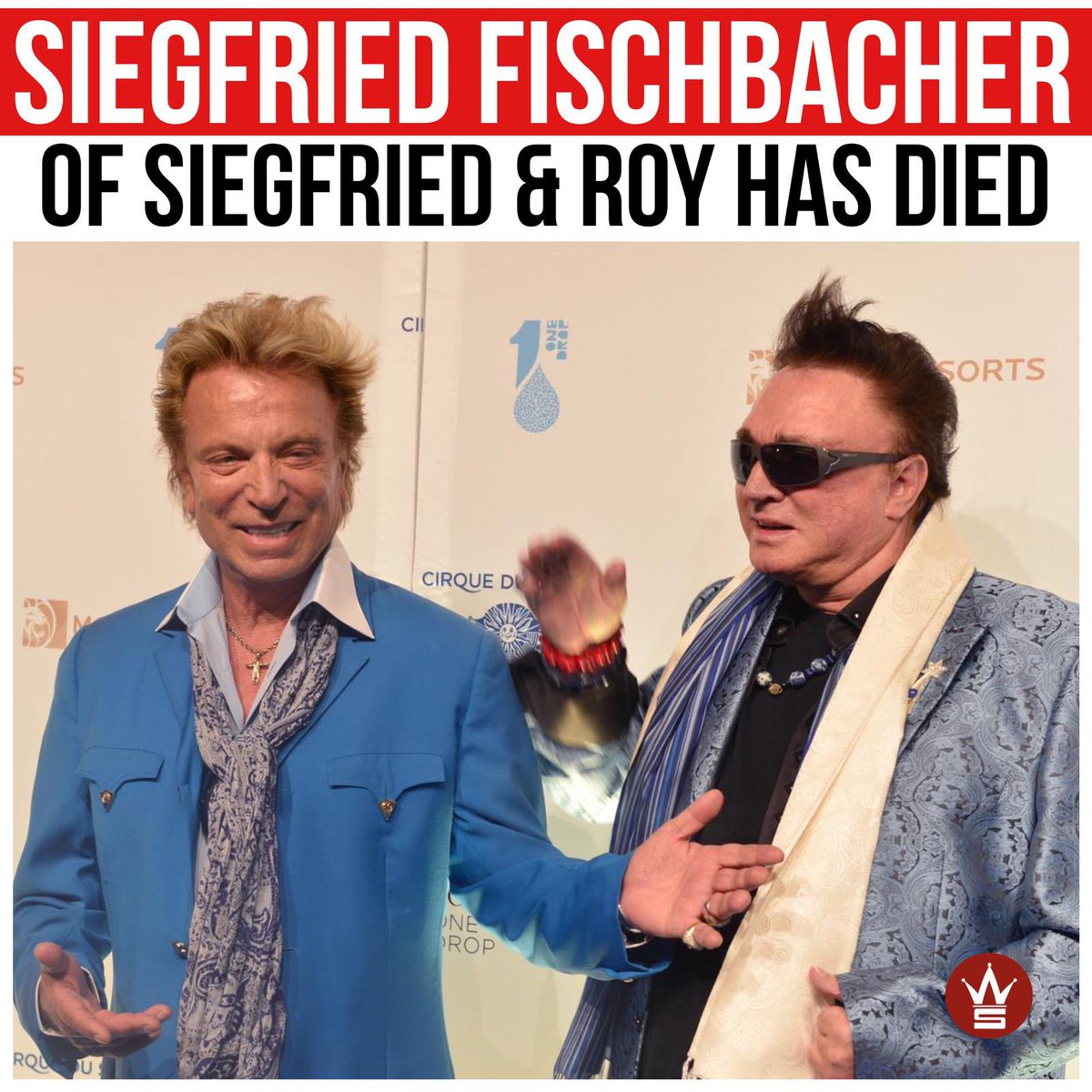 #SiegfriedFischbacher (left), half of the Siegfried & Roy magic duo, has died at the age of 81. Siegfried announced just two days ago that he had terminal pancreatic cancer and died last night at his home in Las Vegas. Our thoughts and prayers are with his family and friends. 🙏 https://t.co/VMaCbkBPOJ