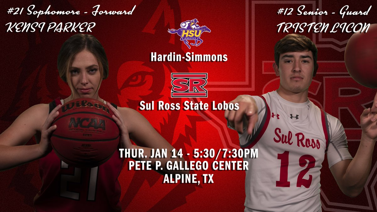 🏀HOME BASKETBALL🏀  Men's and women's hoops host Hardin-Simmons tonight at the Gallego Center!  TIP: 5:30/7:30 p.m.  WATCH:   LIVE STATS: WB:  MB:   PROTOCOLS:   #SRSU #ASChoops #d3hoops