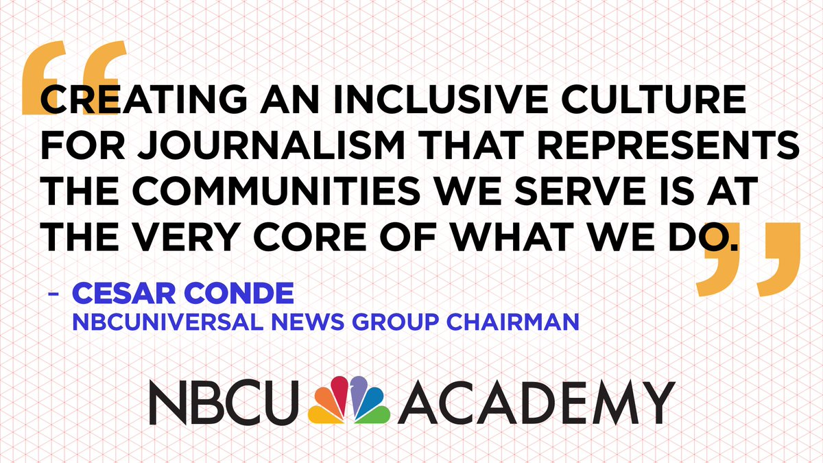 Through @NBCUAcademy, our journalists, as well as our colleagues from @NBCNews, @MSNBC and @Telemundo, will offer training at colleges and universities, part of a $6.5 million commitment. #NBCUAcademy  Read more about the initiative here: