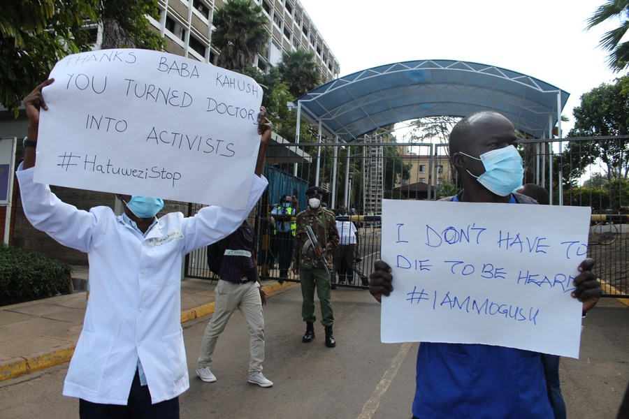 The industrial strike by Kenyan nurses and clinical officers that commenced in early December 2020 over remuneration and inadequate access to protective gear could jeopardize efforts to flatten #COVID19 infections and related deaths