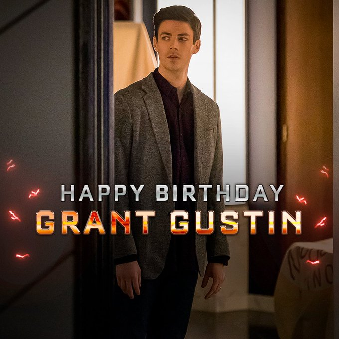 Central City\s finest. Happy birthday, Grant Gustin!