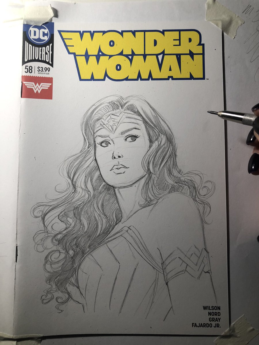 WW WIP on a Blank Cover🌟  #wonderwoman #dccomics #warnerbros  #WonderWoman1984 #WonderWoman84