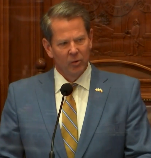 """""""The budgets my administration will propose in the coming days include no new cuts to state agencies and departments, no furloughs, no widespread layoffs to state employees. And, I might add, no new taxes to pay for it all.""""  Governor Brian Kemp #gapol #GPBLawmakers"""