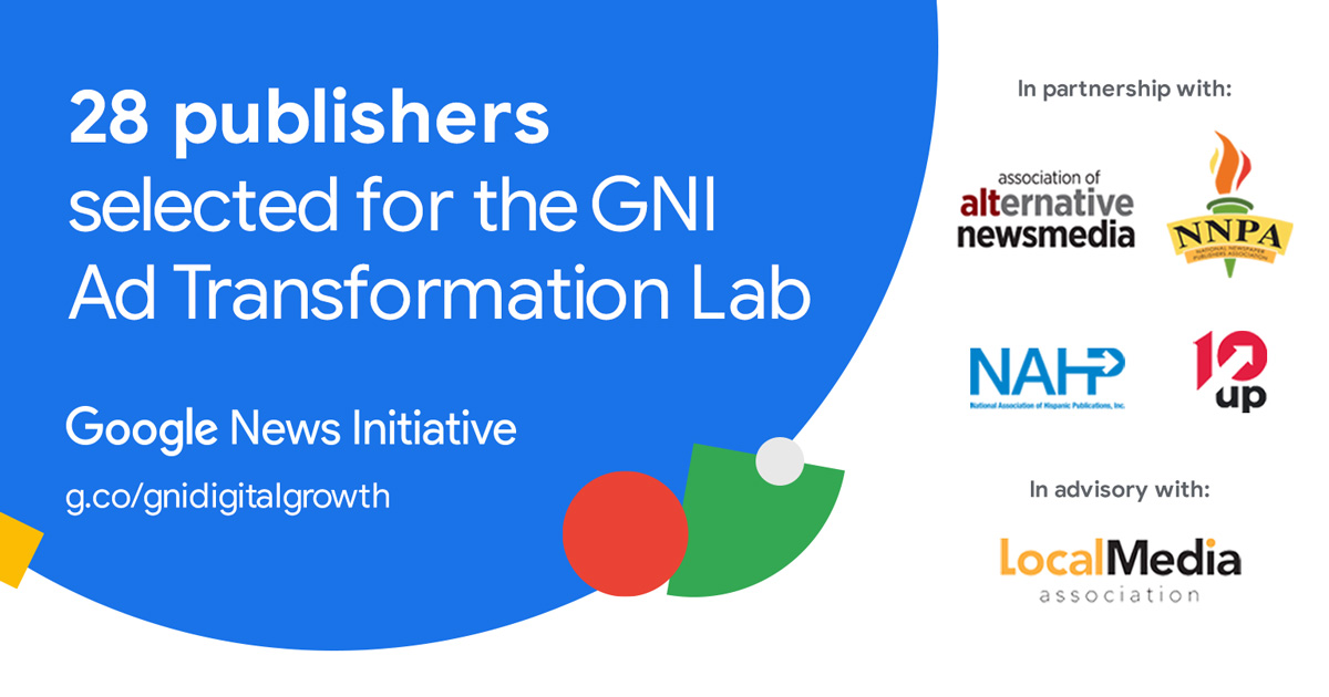 We kicked off the GNI Ad Transformation Lab in partnership with @NAHPInc, @AltWeeklies, @NNPA_BlackPress. 28 Black & Latino news publishers from across the U.S. will partake in a 6 month lab to grow their digital advertising business. Read more here: