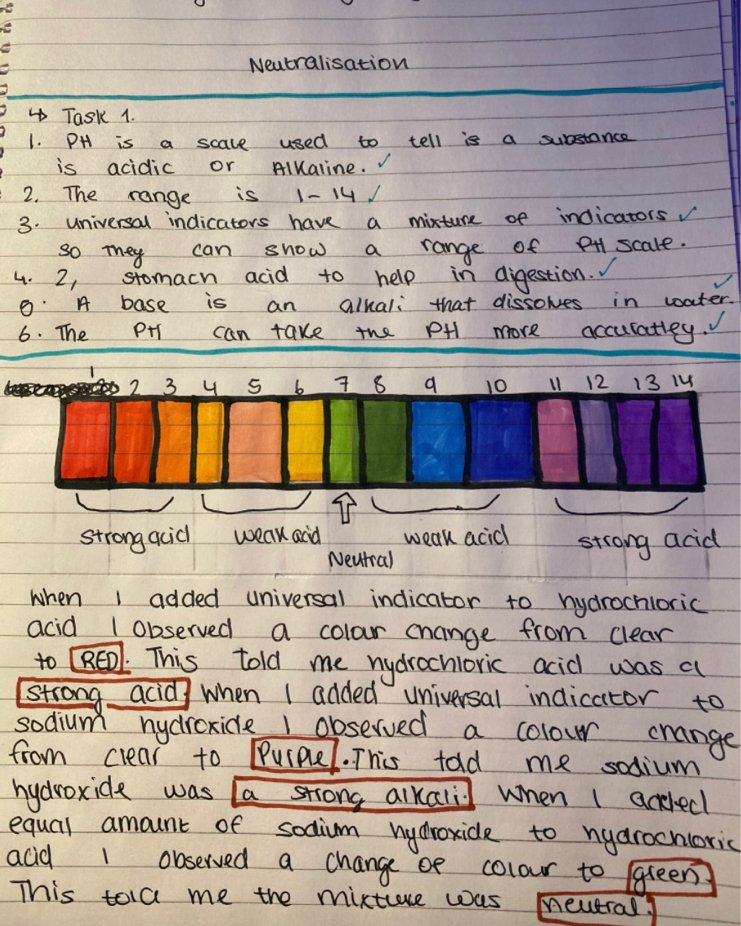 We are really proud of the effort our students are putting into their online learning. Hania in Year 10 has taken her time to produce a vibrant piece of Science work and has self-assessed to keep in control of her learning. Well done! #HomeLearning