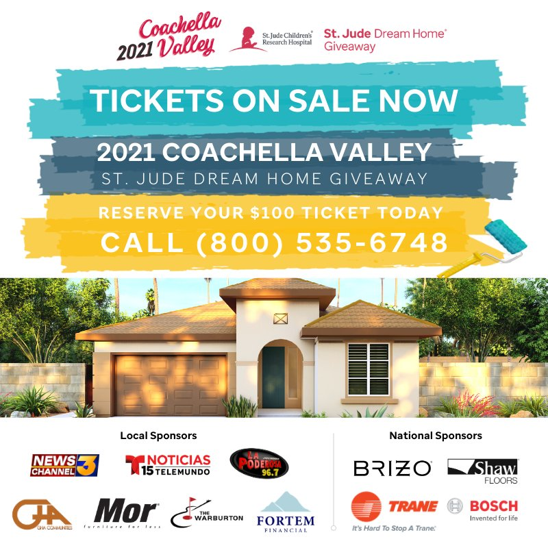 Tickets almost all sold out.  Better odds than the lottery and benefits the kids at St. Jude #stjude #dreamhome